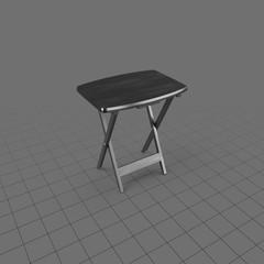 Open folding TV tray table
