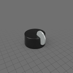 Modern grey and black knob