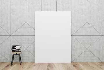 White room with posters and books