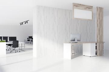 White wooden office interior