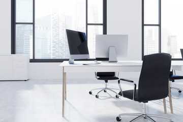 Loft open space office interior