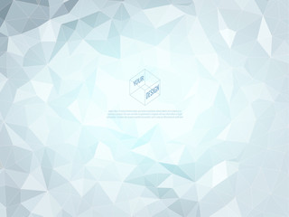 Abstract low poly background in blue color tone