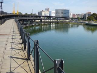 Muelle embarcadero de  Riotinto en Huelva (Andalucia)