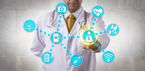 Doctor Contacts White Collar Patient Via Internet