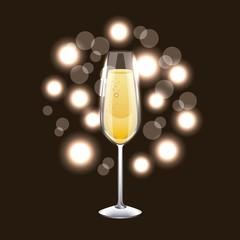 champagne glass drink celebration blur background vector illustration