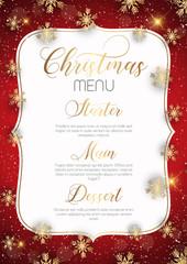 Christmas menu design