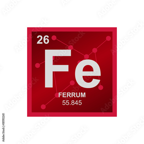 Vector symbol of iron from the periodic table of the elements on the vector symbol of iron from the periodic table of the elements on the background from connected urtaz Images