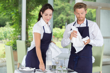 two restaurant workers