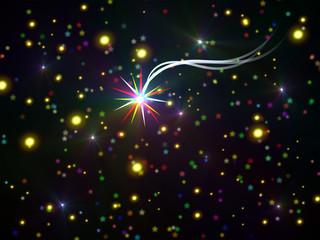 Sfondi natalizi pieni di luci e stelle brillanti