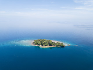 Aerial View of Remote Island in Banda Sea