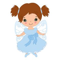 Vector Cute Little Fairy Flying