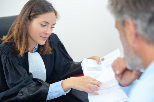 examining the document