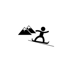 Snowboarder icon. Simple winter elements icon. Can be used as web element, playing design icon