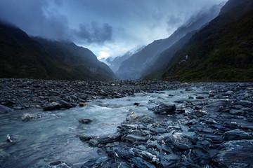 beautiful scenic of franz josef glacier national park southland new zealand most popular traveling destination