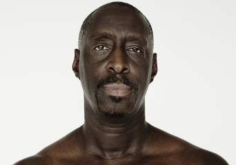 Worldface-African man in a white background