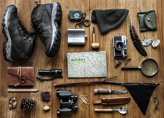 Planning for the trekking trip Fototapete