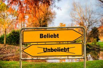 Schild 286 - Beliebt
