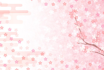 桜 梅 年賀状 背景