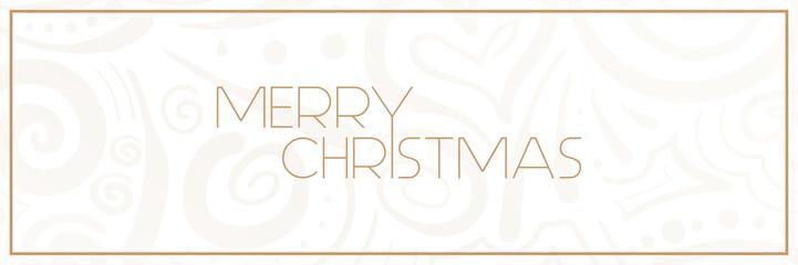 Merry Christmas - Muster Banner - Handgezeichnet
