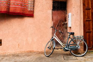 Keuken foto achterwand Fiets streets of marrakech old medina, morocco