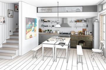 Küche: renoviert (Planung)