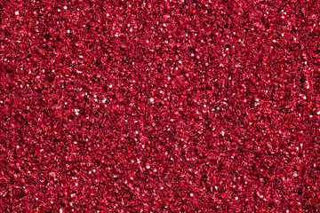 Bright crimson background with glitter.