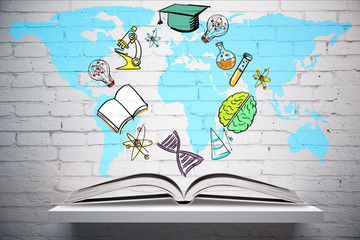 Education and travel concept