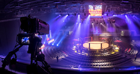 tv camera in competitions in mixed martial arts.