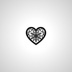 christmas heart icon