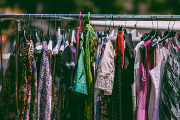 Clothing colors on springtime market