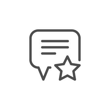 Feedback line icon