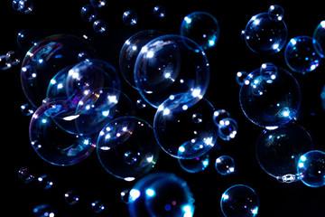 Bubble Soap Flash Light color effect As a black background image