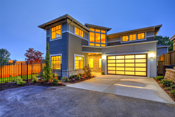 Modern craftsman style home exterior.