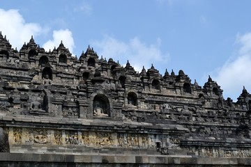 Ancient Buddhist temple in Indonesia.
