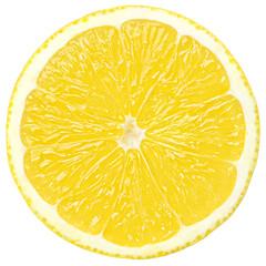 slice of lemon, clipping path, isolated on white background