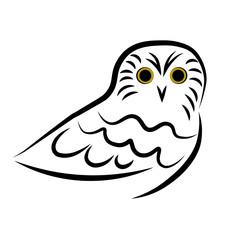 Owl. Drawing. Logo.
