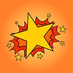 Star! Pop art cartoon comic.