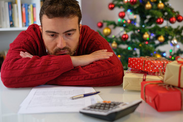 Man without money for christmas present
