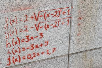 Mathematical Graffity