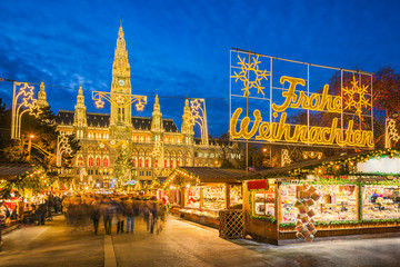 Photo sur Toile Vienne Christmas market in Vienna, Austria