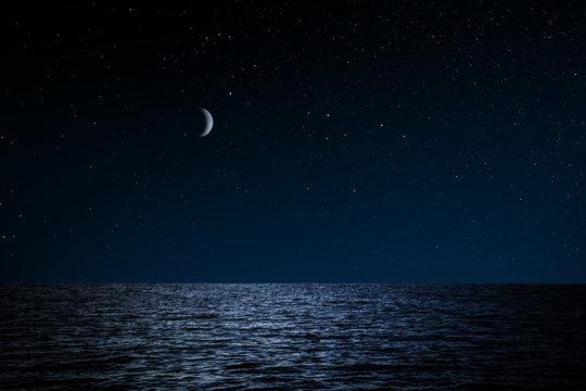 Sternenhimmel über See