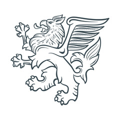 Image of the heraldic griffin
