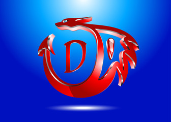 3D-red dragon-logo