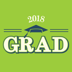 Class of 2018 Congratulations Graduate Typography