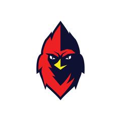 Redbird Mascot logo vector illustration