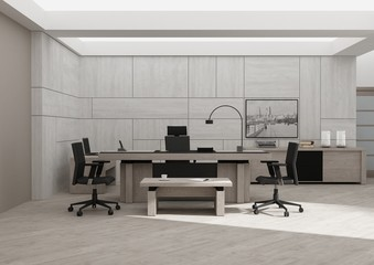 VIP office furniture 3D rendering