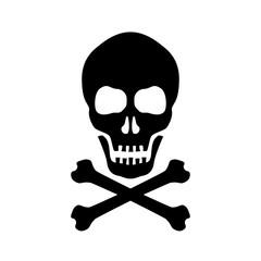 Skull and crossed bones danger sign