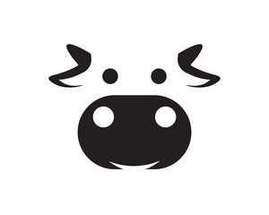 cow Bull horn logo and symbols template icons app
