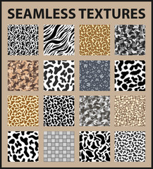 Seamless textures pack. Vector illustration