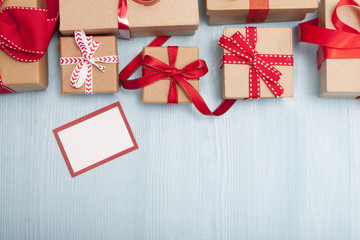 Christmas Gifts with Blank Tag